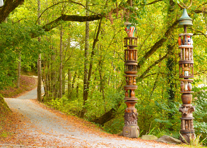 Arrowmont Totems in the Fall