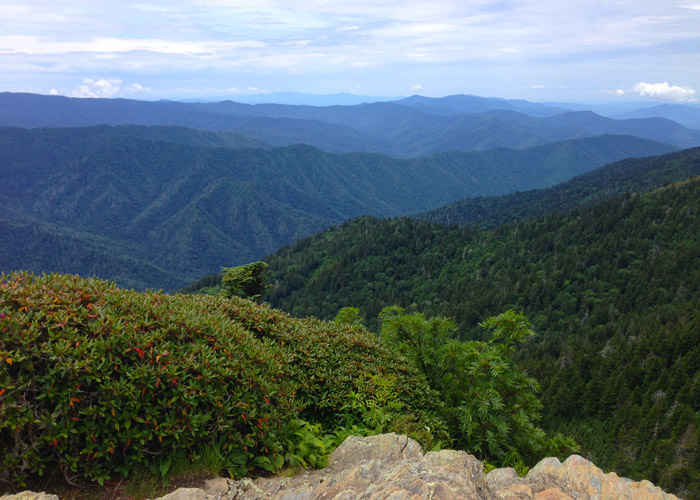 View From Mt Leconte Smoky Mountains