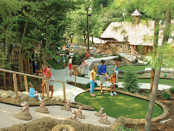 Davy Crockett Mini Golf Course in Gatlinburg