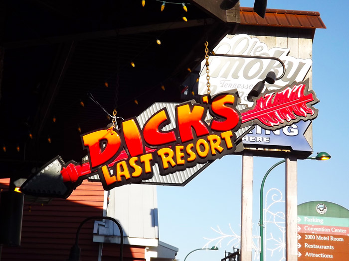 Sign For Dick's Last Resort in Gatlinburg