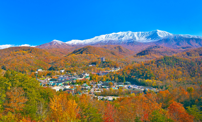 View of Gatlinburg in Late Fall