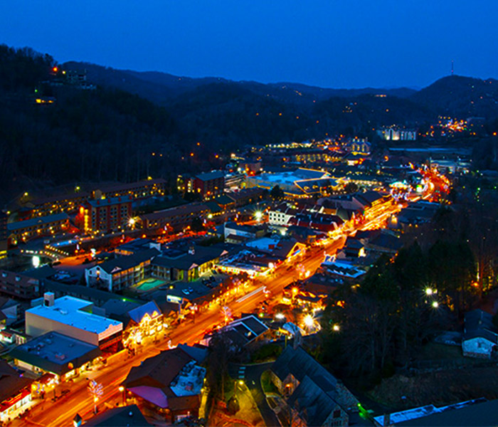 Night Time View From Gatlinburg Observation Tower