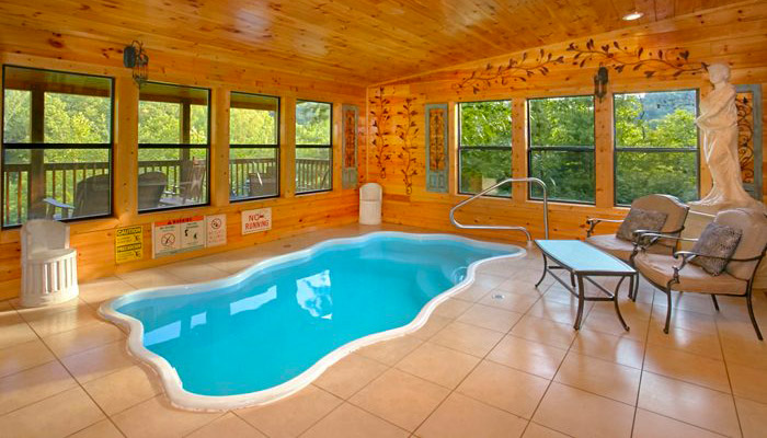 Log Cabin With Indoor Pool