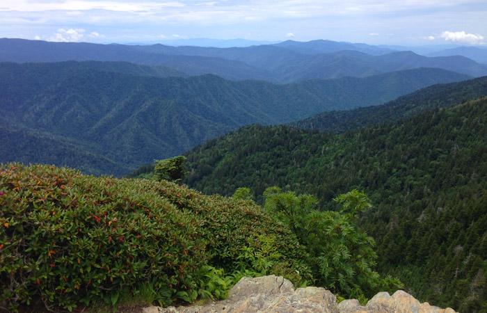 View From The Jump Off Near Gatlinburg, TN