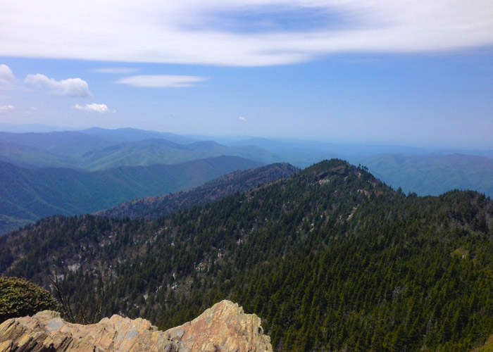 View From Mt. LeConte Near Gatlinburg