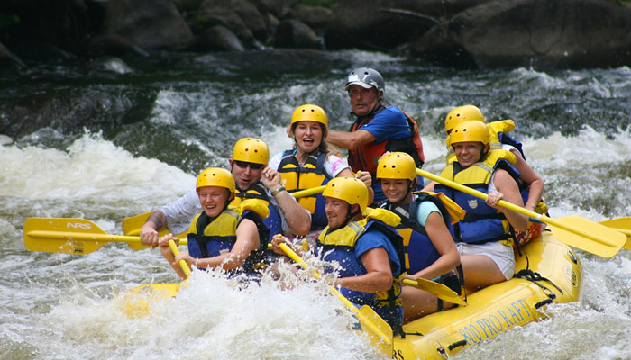 Rafting on the Pigeon River Smoky Mountains