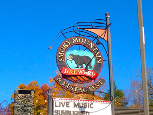 Smoky Mountain Brewery and Restaurant Sign