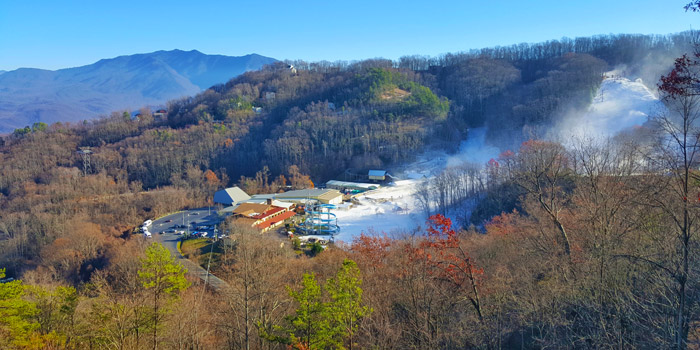 Snowmaking at Ober Gatlinburg Ski Mountain