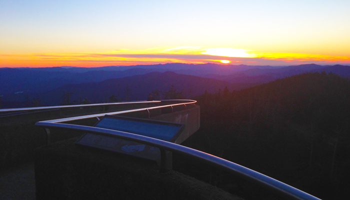 View of Sunset At Clingmans Dome