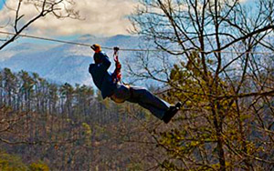 Zip Line in the Smokies
