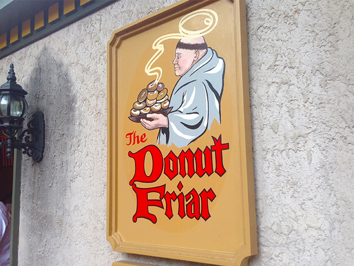 Sign For the Donut Friar in Downtown Gatlinburg
