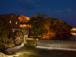 The Old Mill at Night