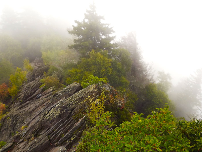Chimney Tops in the Fog Great Smoky Mountains National Park