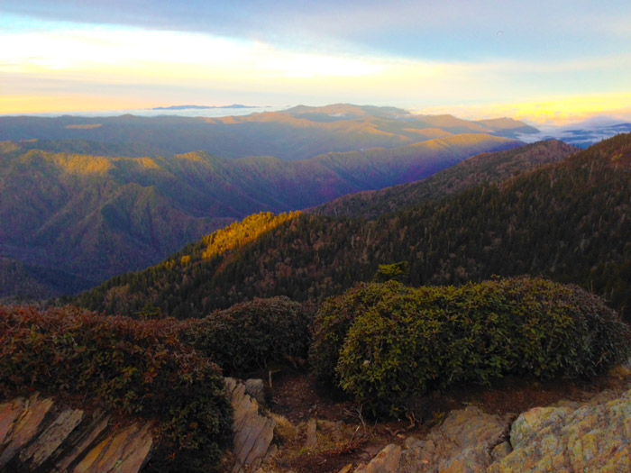 View From Cliff Tops Overlook on Mt. LeConte