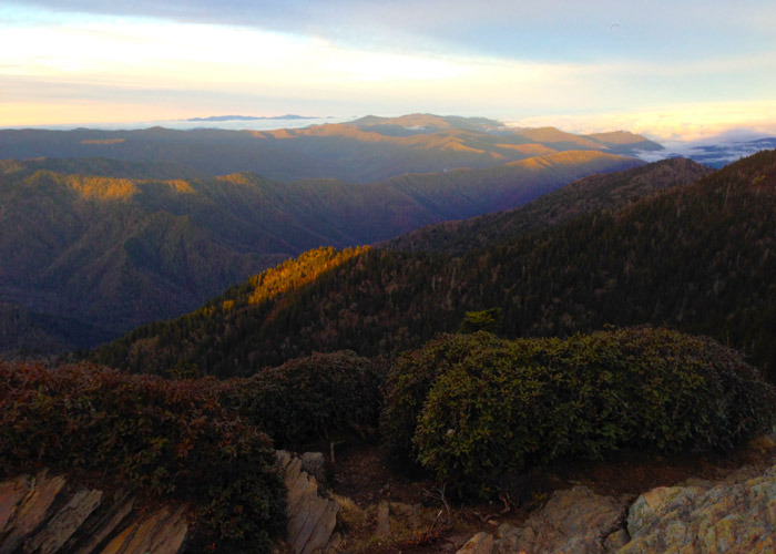Clifftops At Sunrise Mt LeConte
