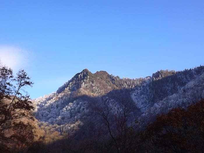View of Chimney Tops From Newfound Gap Road