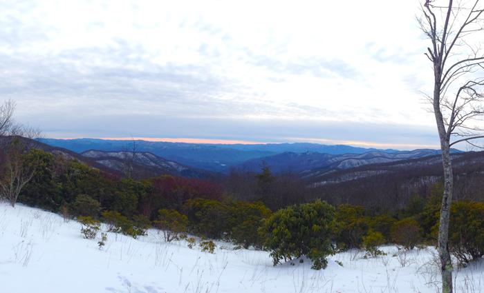 Winter Mountain View Smoky Mountains