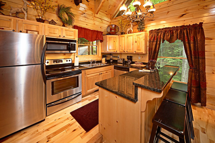 Adlers Ridge Cabin Kitchen