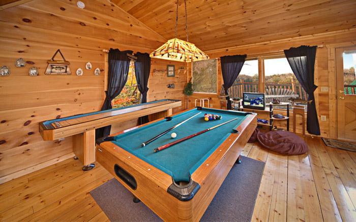 Game Room in a Gatlinburg Cabin