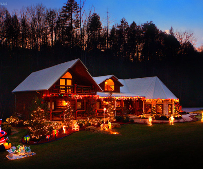Log Cabin Christmas Smoky Mountains