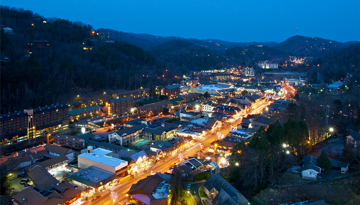 Night View of Gatlinburg