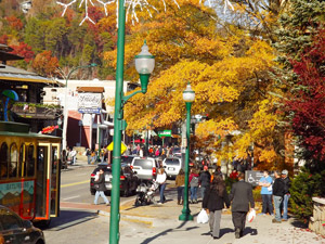 Downtown Gatlinburg in Fall