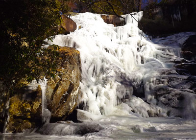 Waterfall in the Smokies in Winter