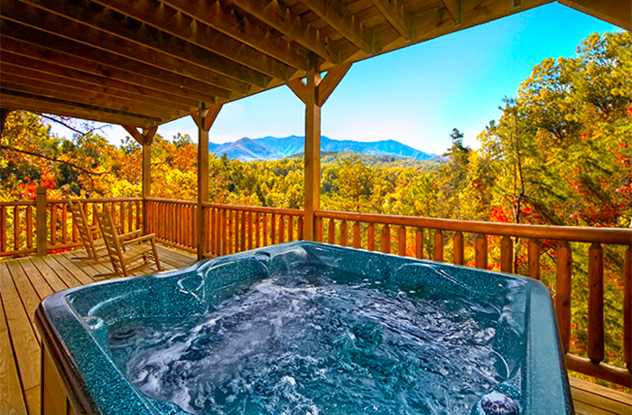 Gatlinburg Cabin View in Fall