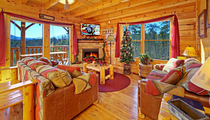 Christmas Cabin in Gatlinburg With Decorations