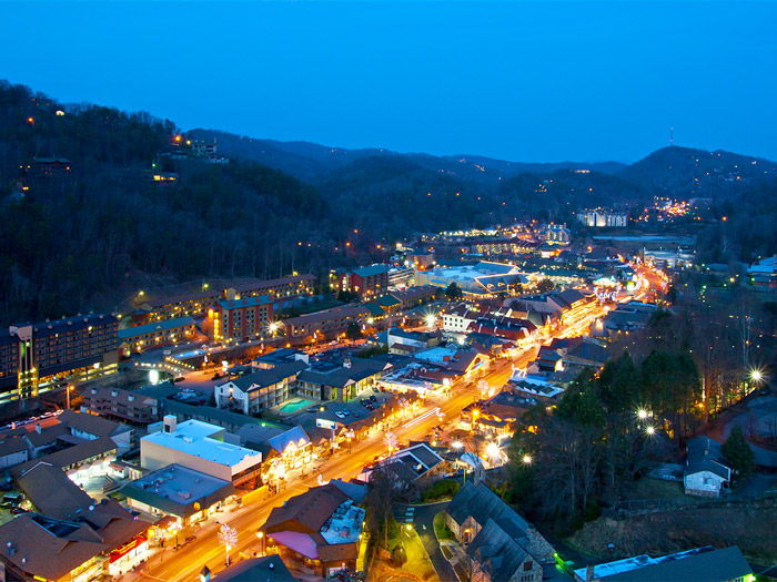 Downtown Gatlinburg in the Smokies