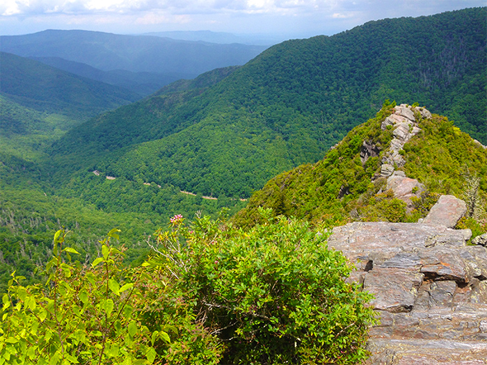 View From Chimney Tops Near Gatlinburg in Summer