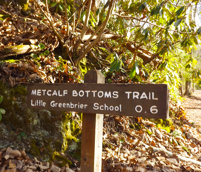 Metcalf Bottoms Trail Sign