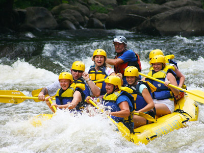 Rafting the Pigeon River