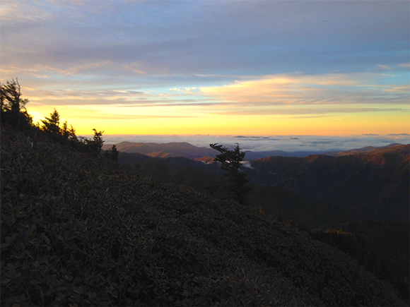 Sunrise in the Smoky Mountains Mt. LeConte