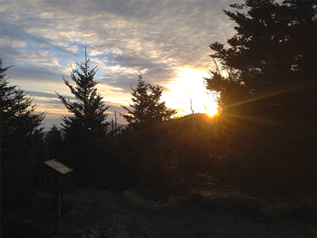 Sunrise on Mt. LeConte Smoky Mountains