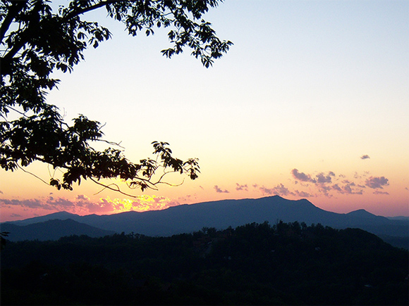 Sunset in the Smoky Mountains Near Gatlinburg
