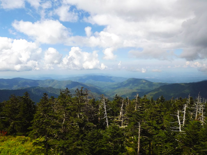 Clingman's Dome View Near Gatlinburg