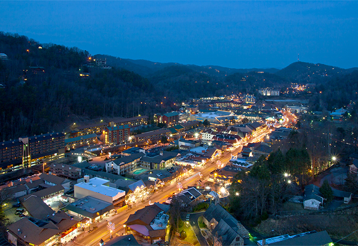 Downtown Gatlinburg At Night