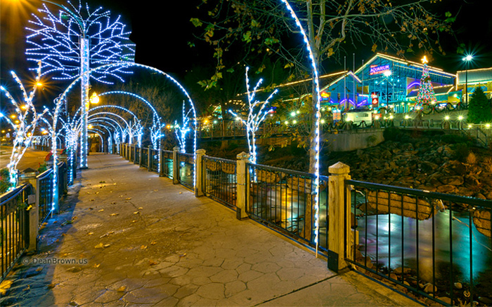 Christmas Lights in Gatlinburg Near Ripley's Aquarium